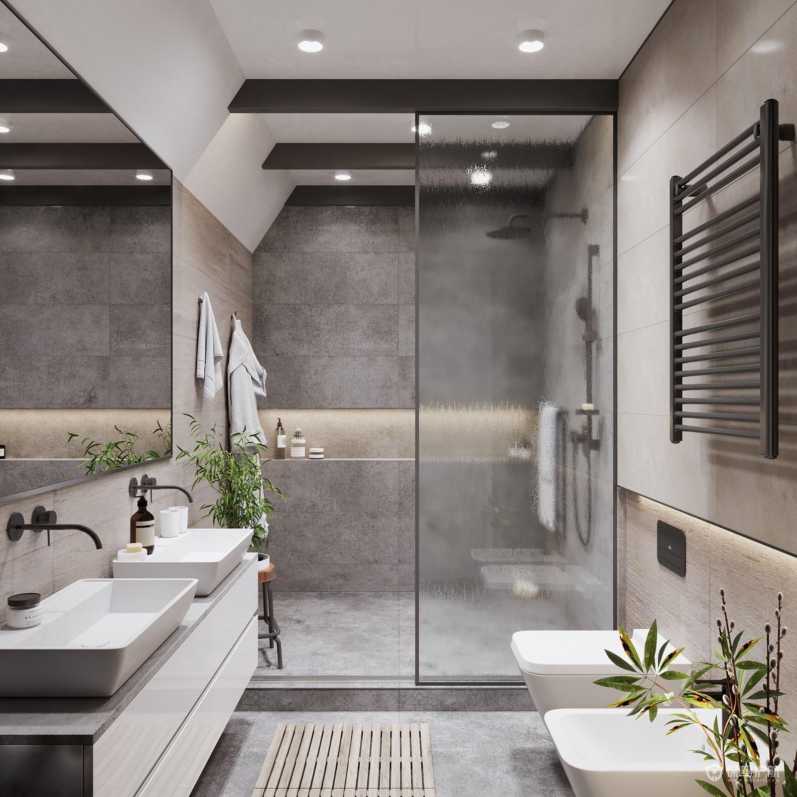 高端卫生间装修样板间设计参考