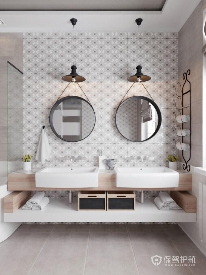 卫生间装修样板间设计图!