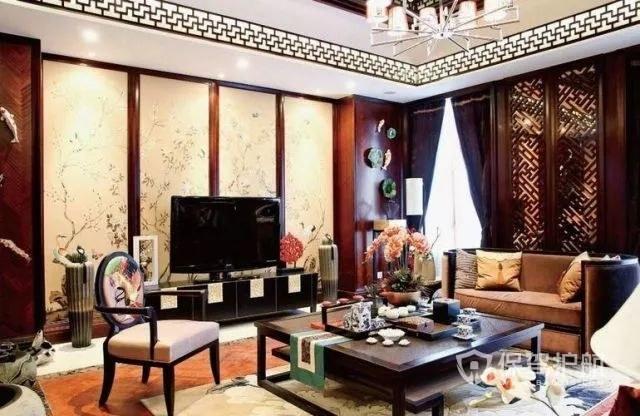 電視墻中式裝修