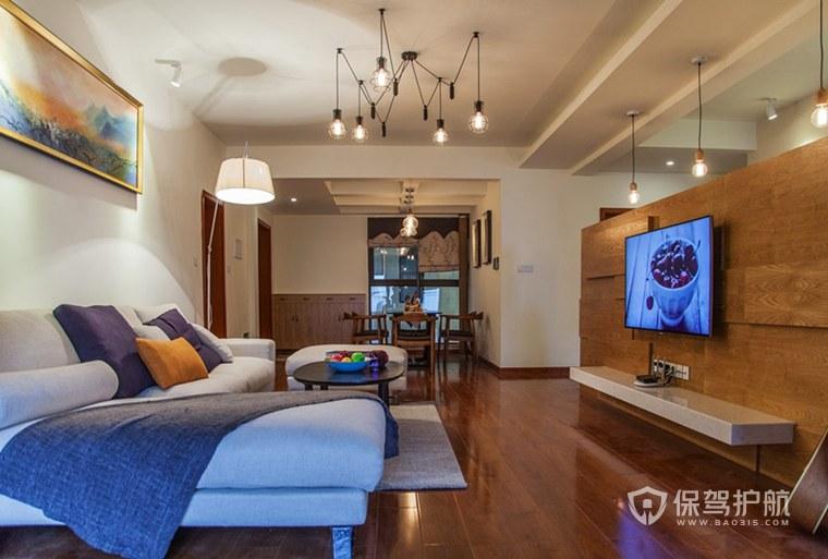 简洁大方的客厅电视墙怎么装修?