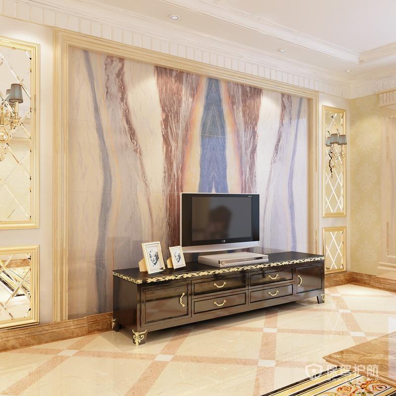 中式瓷砖电视墙怎么装,安装过程