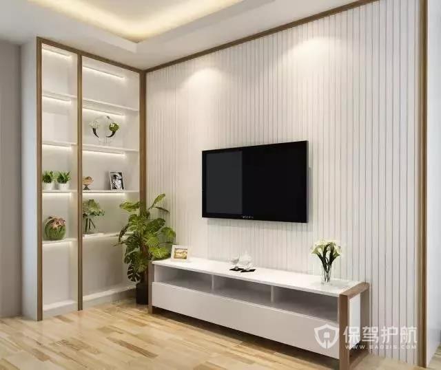 简约大气现代电视墙装修 现代简约电视墙装修效果图