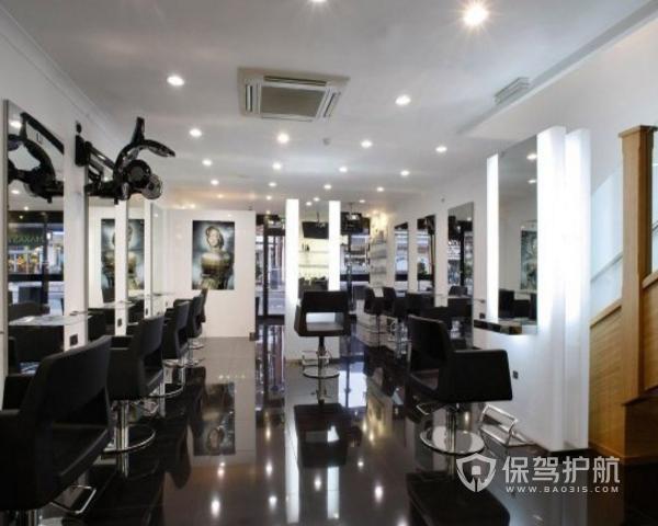 小型美发店设计效果图 小型美发店设计方案