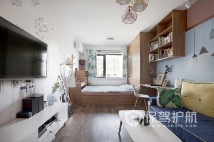 30m²的房子,小户型电视背景墙装的很好看!