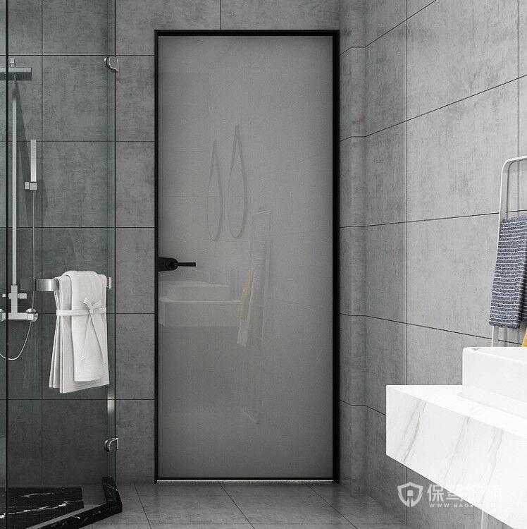 简欧风格厕所门,轻便美观节省空间厕所门