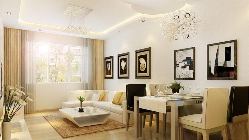 135平米三居室简欧风格装修