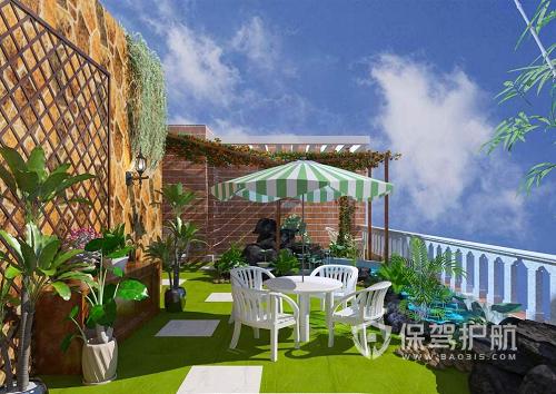 大阳台如何设计成花园?(效果图欣赏)