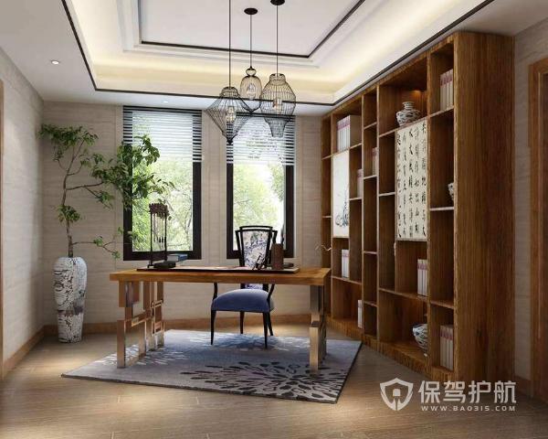 新中式书房装修效果图 新中式书房装修要点