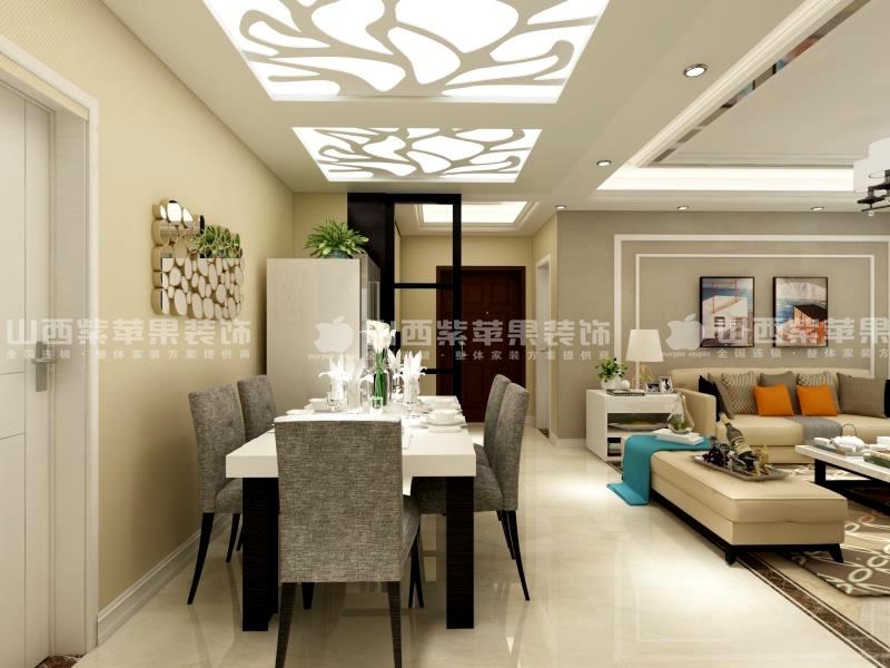 太原紫苹果装饰阳光揽胜130平米简约风格案例
