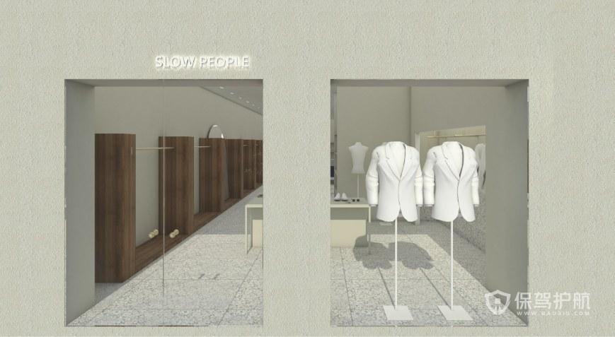 现代极简风格服装店设计