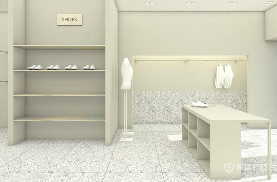 现代极简风格服装店展柜设计效果图