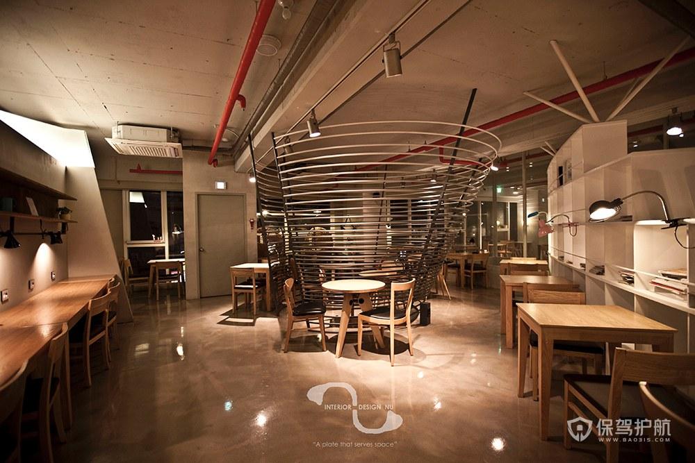 复古咖啡馆装修效果图