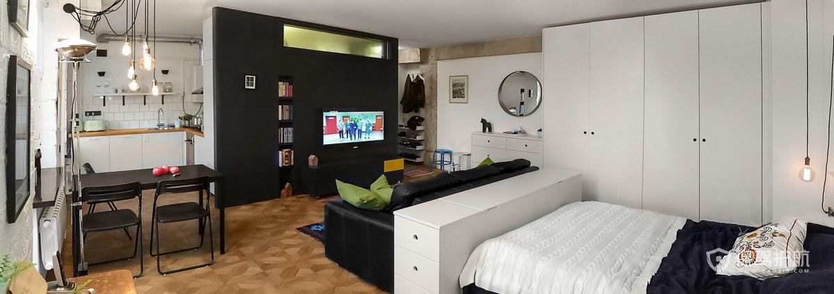 仅仅43m²的房子也能拥有好看的灵魂和独特个性