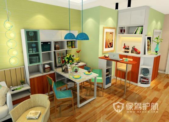 餐厅鞋柜加酒柜效果图,餐厅橱柜设计这样最实用!