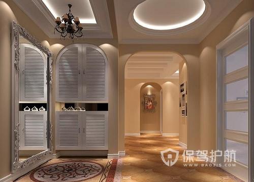 古典玄关吊顶设计图欣赏  进门玄关吊顶造型有哪些?