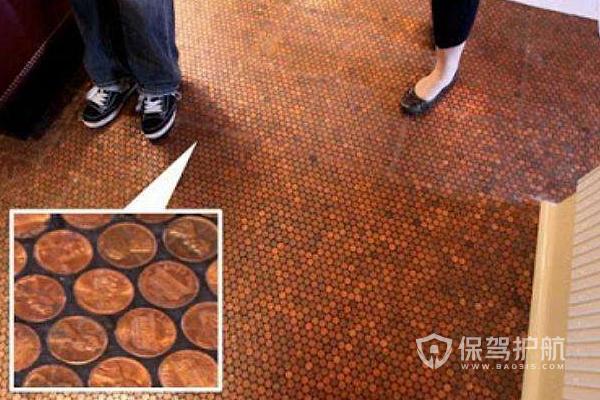 地板下面放硬幣怎么放?-地板裝修