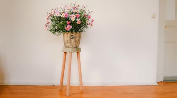 简单的DIY改造家具,让生活充满便利,教你做个花台架