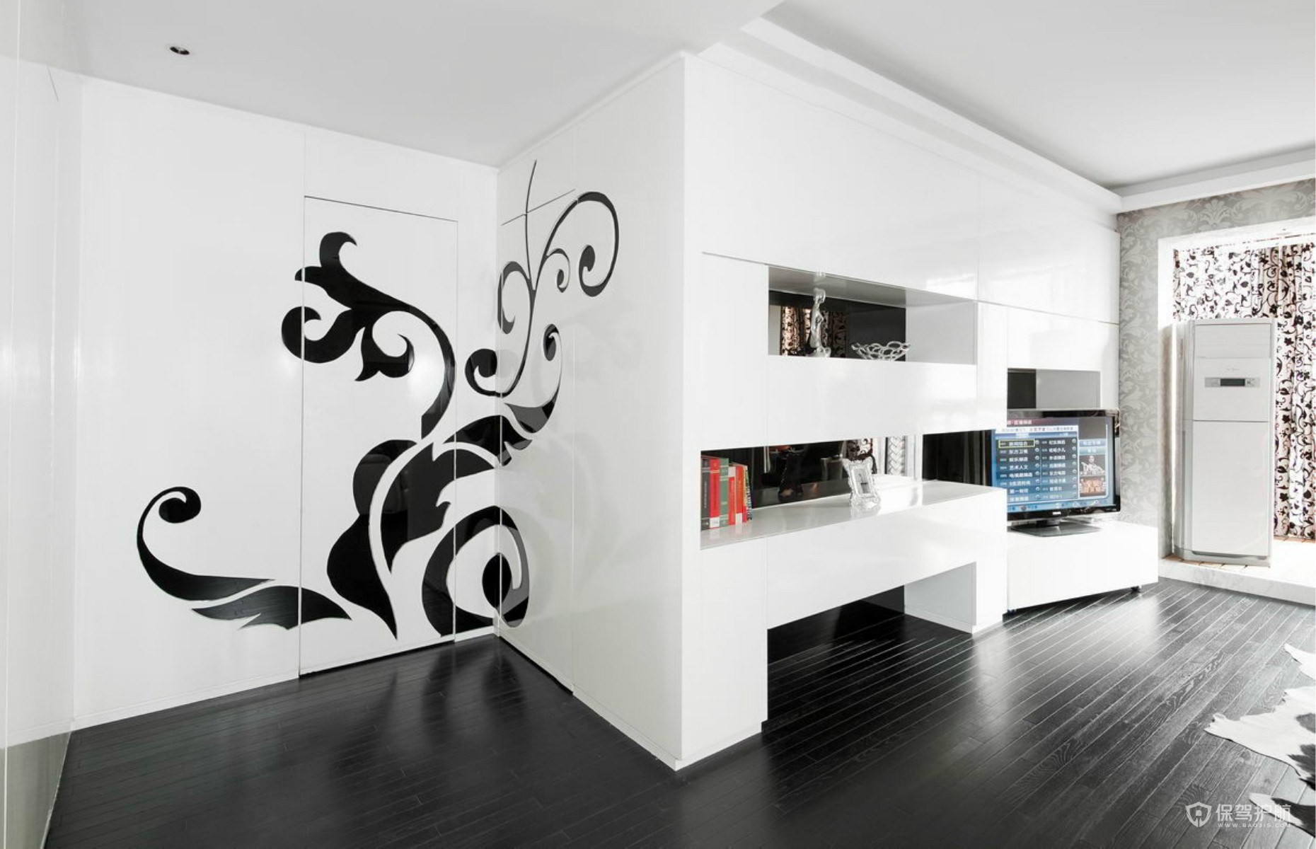 简约设计的装修门和地板怎么搭配1