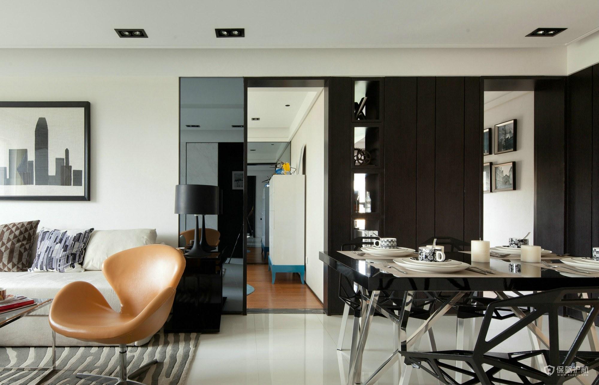 简约设计的装修门和地板怎么搭配3