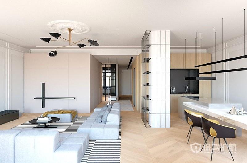简约设计的装修门和地板怎么搭配2