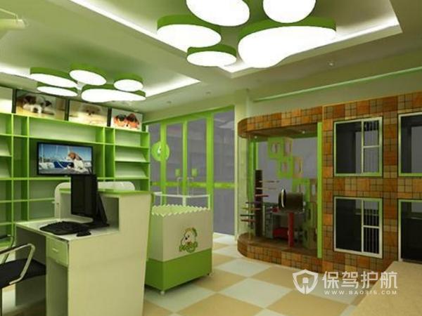 50平米宠物店设计方案与效果图-宠物店装修