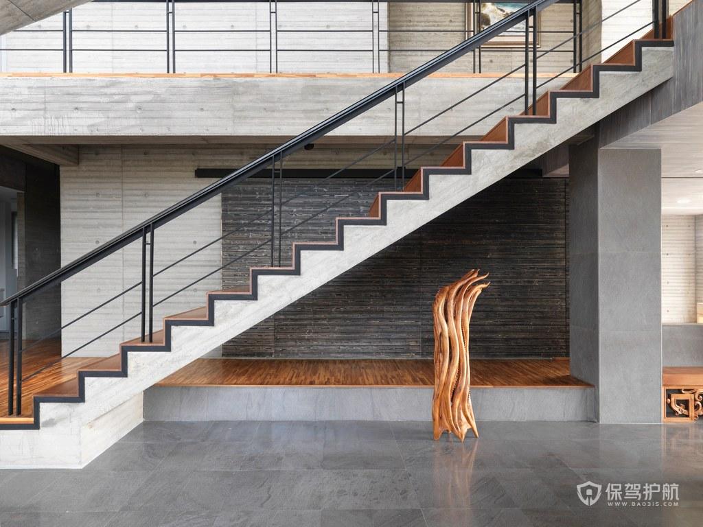 混凝土楼梯装修效果图-保驾护航装修网
