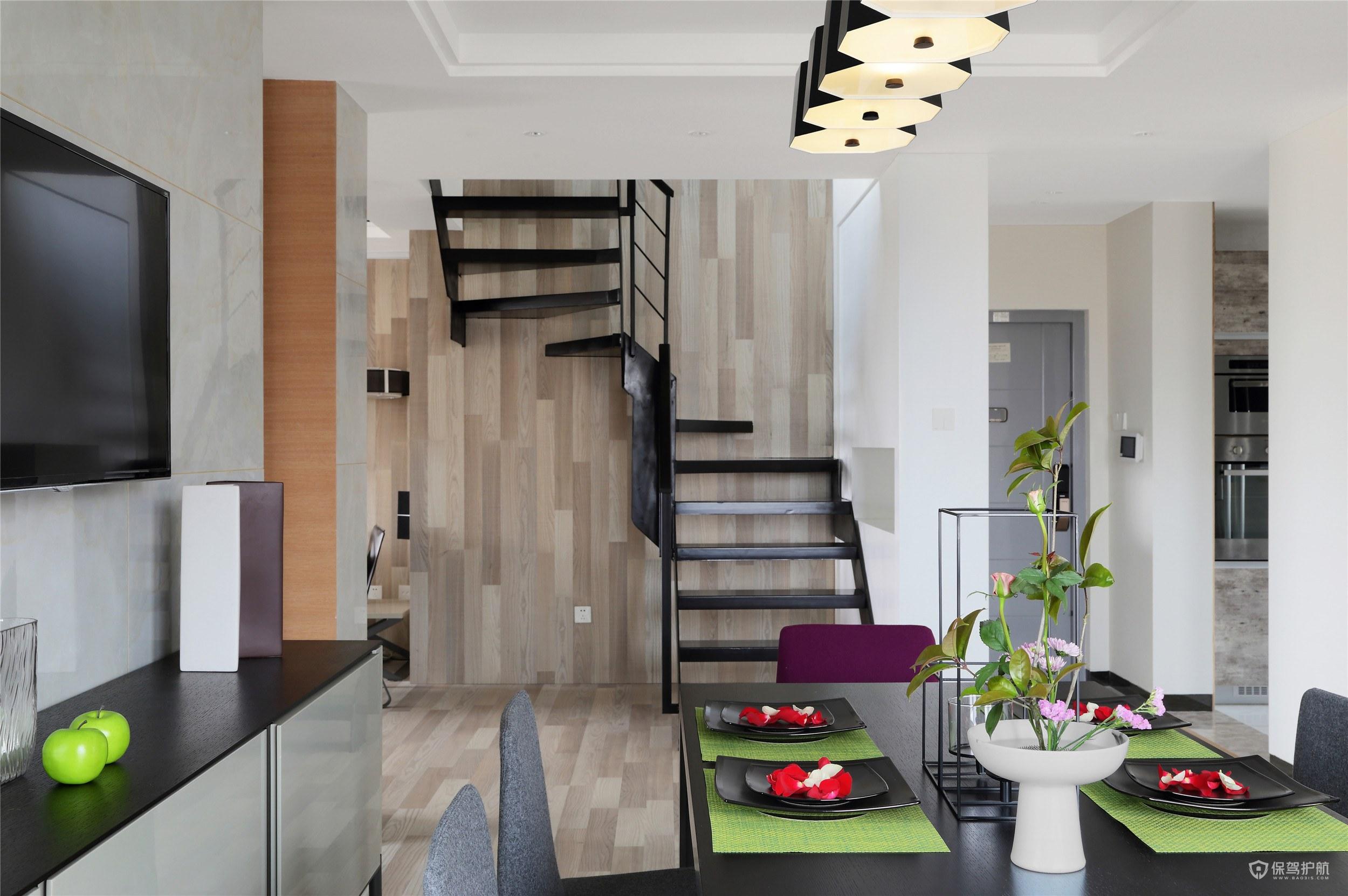 小戶型復式樓梯怎么裝修2