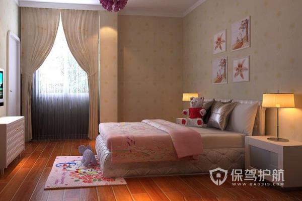 卧室铺地砖还是地板好?2019卧室地板铺设效果图