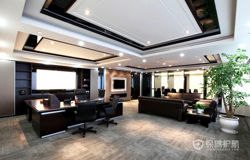 大面积现代董事长办公室装修效果图