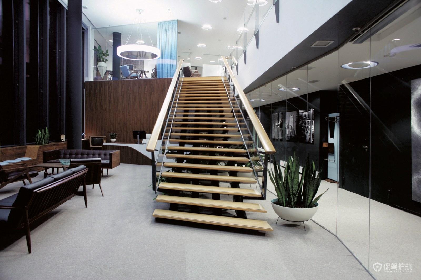 现代简约风格办公楼梯设计图