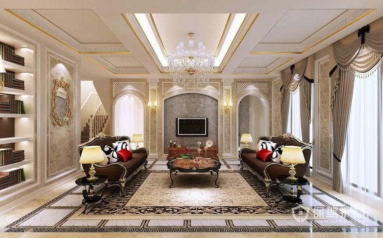 客厅地面贴什么瓷砖好?客厅地面贴瓷砖注意事项-客厅装修