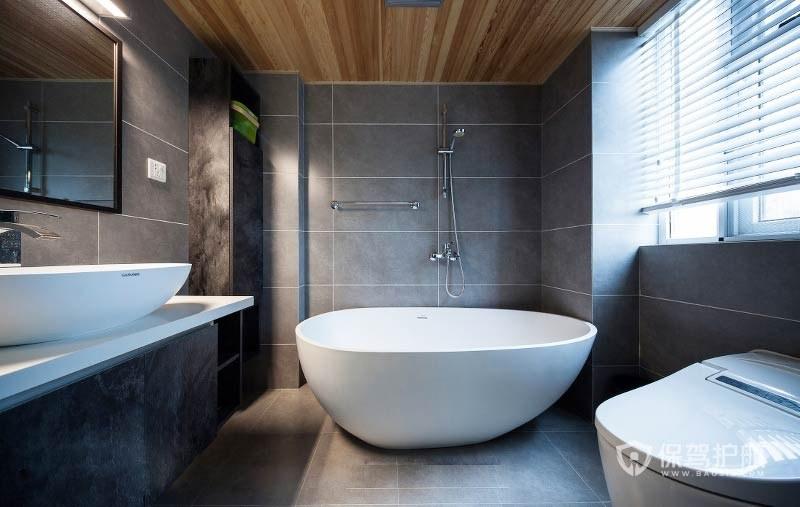 簡潔的家庭浴室設計,家庭衛浴間裝修效果圖片