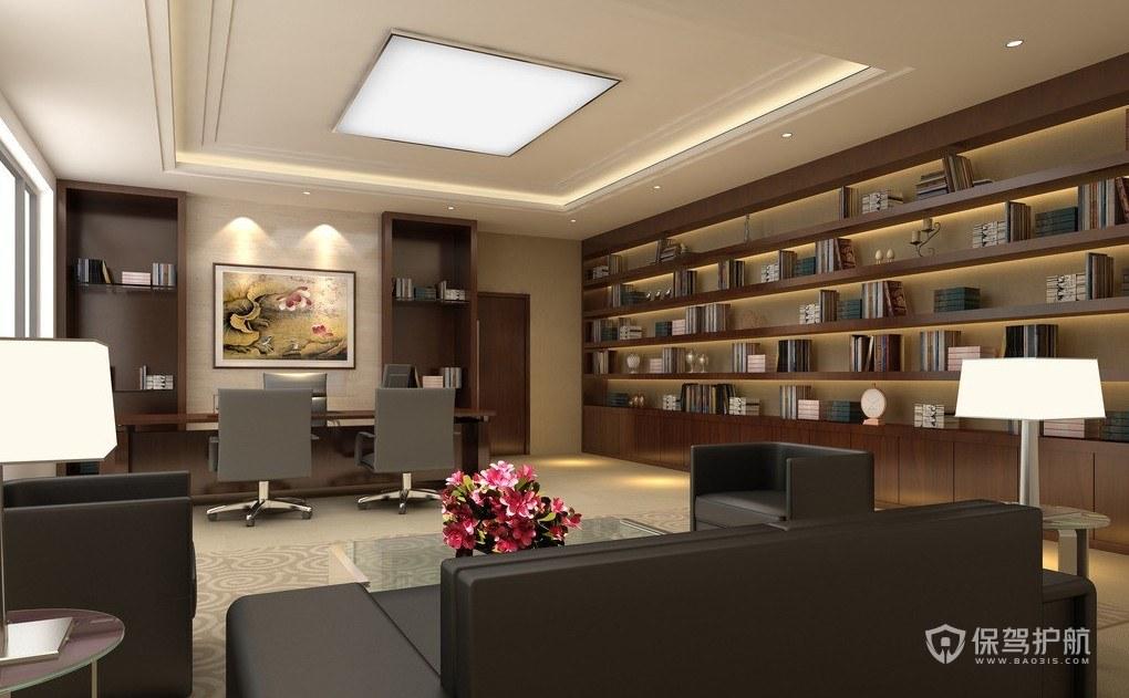 现代中式办公室装修效果图