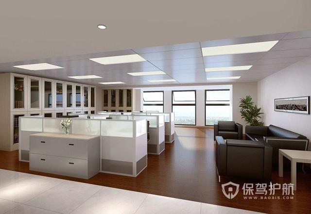 简单明亮的办公区装修设计