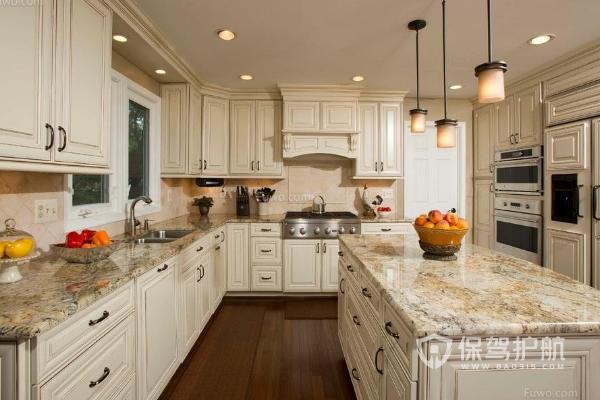石英石台面优缺点有哪些?厨房石英石台面装修效果图