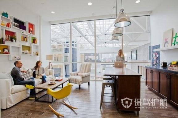 欧美创意开放式办公室接待室设计图