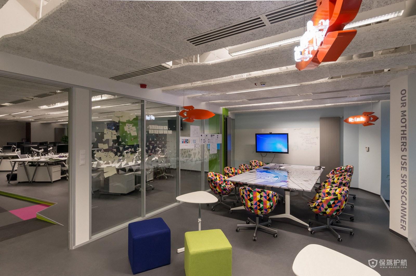 创意办公室布局设计效果图