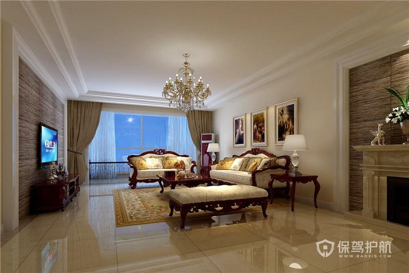 客厅双层石膏线吊顶怎么做?客厅双层石膏线效果图-客厅装修