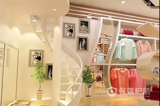 灯光设计一流的服装店效果图