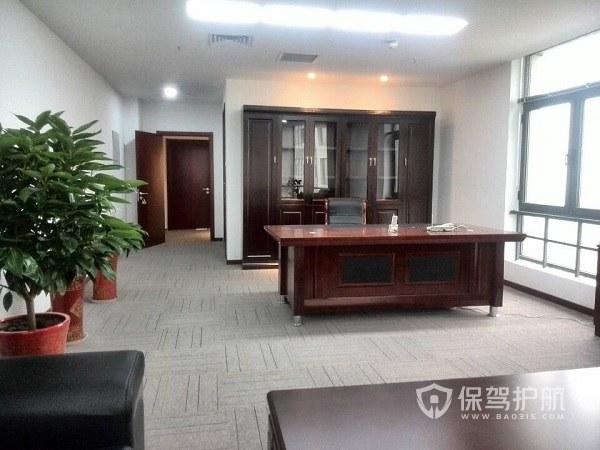 中式开放式办公室设计实景图