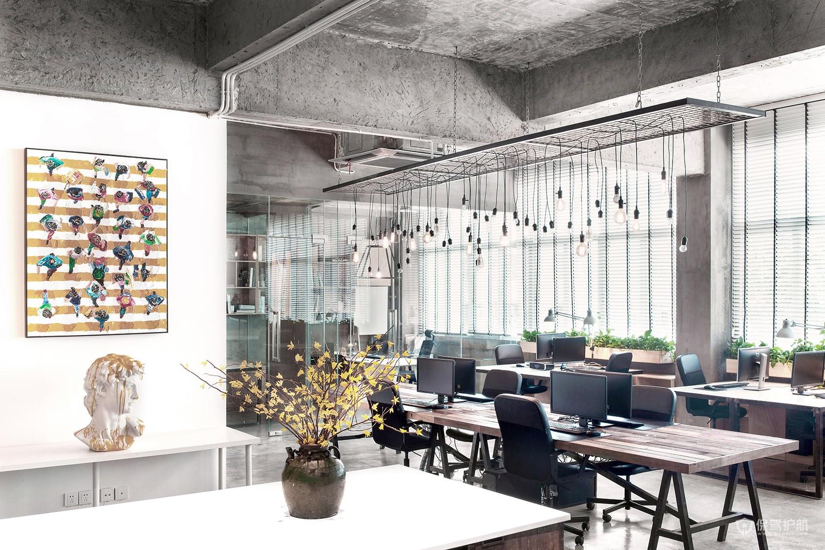 北欧风格办公室办公区域布局图