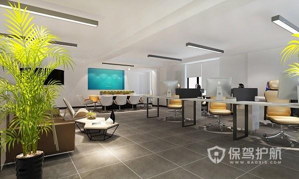 简约风格开放式办公室实景图