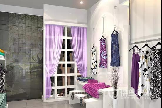 灯光氛围超棒的女装店设计
