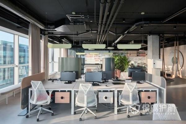 工装开放式办公室实景效果图
