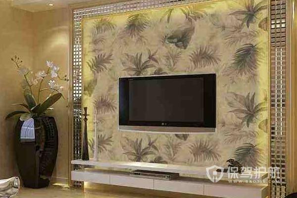电视背景墙边框装修效果图-保驾护航装修