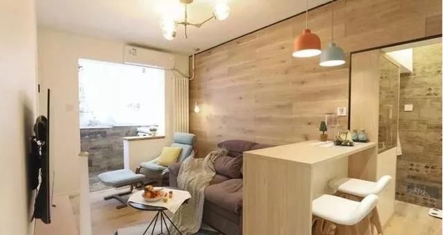 55㎡小户型简简单单装修,阳光书房、娱乐吧台,比多买30㎡还值!