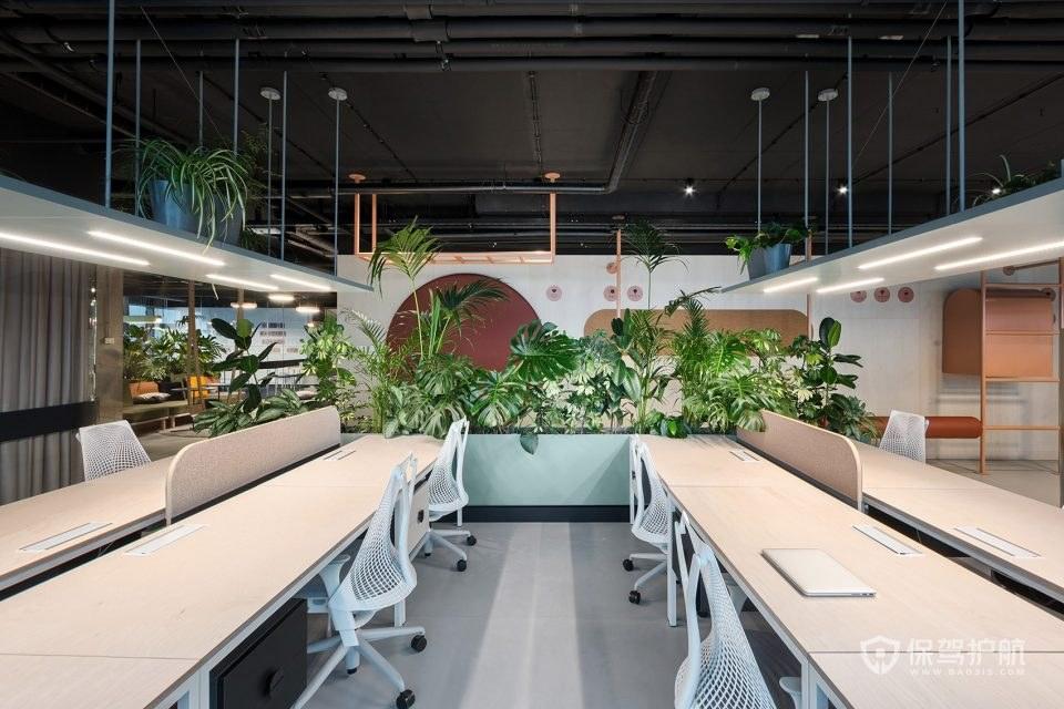 生态开放式办公室设计图