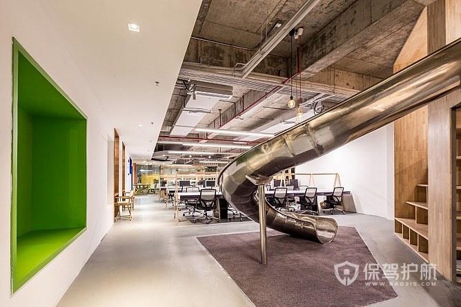 后现代loft风办公室装修效果图