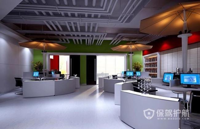 欧美个性开放式办公室设计图