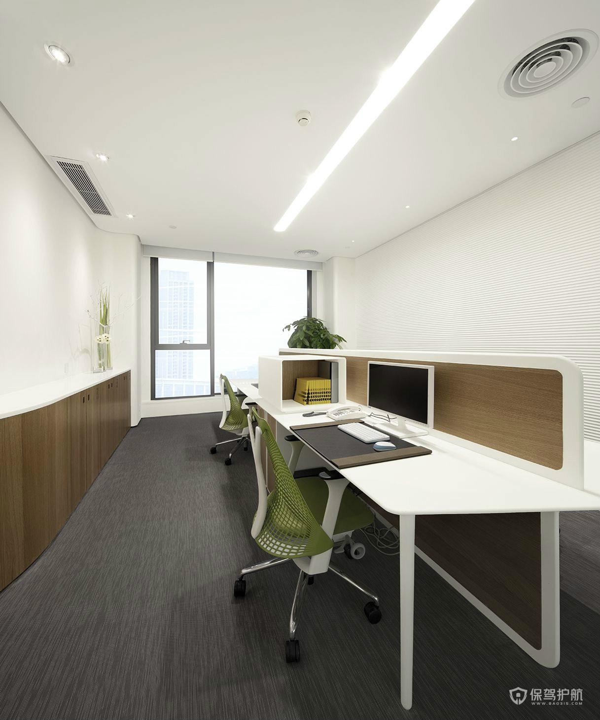 简洁办公室财务室装修设计图